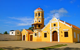 Église de Santa Barbara, Mompos, Colombie photo stock