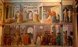 Église de Santa Maria del Carmine de chapelle de Brancacci de fresque, Florence, Firenze, Toscany, Italie photographie stock