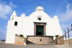 Église de Santa Maria del Soccorso dans Forio, ischions Image libre de droits