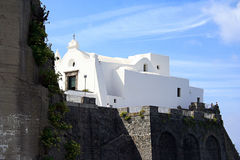 Église de Santa Maria del Soccorso, Forio, ischions, Italie Photographie stock libre de droits