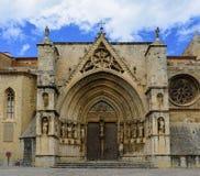 Église de Santa Maria la Mayor, Morella, province de Castellon, station thermale image libre de droits