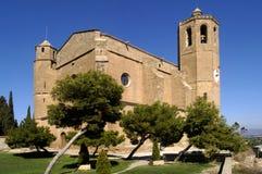 Église de Santa Maria, province de Balaguer, Lérida, Catalogne, station thermale images stock