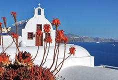 Église de Santorini photographie stock