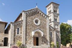 Église de sauveur de rue dans Castellina dans Chianti Images libres de droits