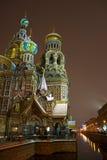 Église de sauveur sur le sang renversé, St Petersburg Images libres de droits