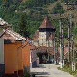 Église de serveur d'Axente dans Frauendorf, Roumanie des rues Images libres de droits