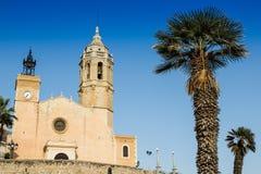 Église de Sitges Photographie stock libre de droits