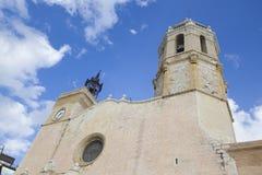 Église de Sitges dans la province de Barcelone Photographie stock libre de droits