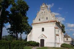 """Église de St Anna de la Renaissance dans Konskowola (skowola de """"de KoÅ), Pologne Photographie stock libre de droits"""