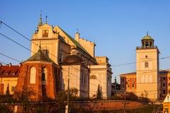Église de St Anne à Varsovie photo stock