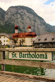 Église de St Bartholoma. Konigssee. Allemagne photos libres de droits