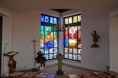Église de St Bartholomew dans Leutershausen, Allemagne image libre de droits