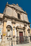 Église de St Benedetto Massafra La Puglia l'Italie Photos stock