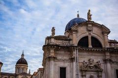 Église de St Blaise sur la place de Luza, Dubrovnik Image stock