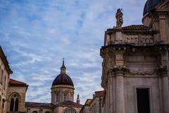 Église de St Blaise sur la place de Luza, Dubrovnik Photo stock