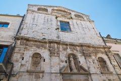 Église de St Chiara Delle Fonti d'Acquaviva La Puglia l'Italie Photographie stock libre de droits