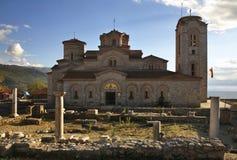 Église de St Clement et de St Panteleimon dans Ohrid macedonia photographie stock