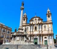 Église de St Dominic, Palerme, Sicile, Italie Photos libres de droits