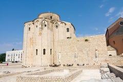 Église de St Donat dans Zadar, Croatie Photographie stock libre de droits