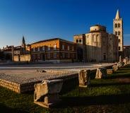 Église de St Donatus dans Zadar, Croatie Images libres de droits