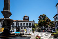 Église de St John l'évangéliste dans la région régionale de gouvernement de Funchal C'est l'église d'université de l'université d Images stock
