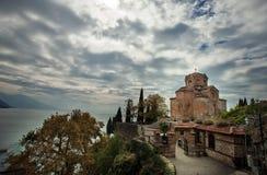 Église de St John le théologien - chez Kaneo, Ohrid photo stock