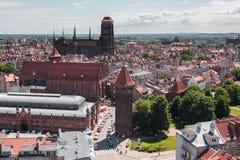Église de St Maria, vieille ville de Danzig, Pologne Images stock