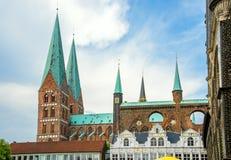 Église de St Mary Lübeck, Allemagne Photographie stock libre de droits