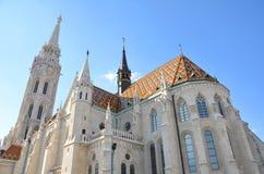 Église de St Matthias à Budapest Images libres de droits