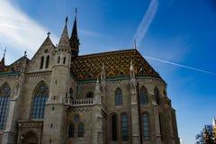 Église de St Matthias un jour ensoleillé Images stock