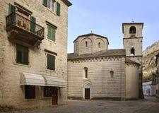 Église de St Ozana (St Maria de rivière) dans Kotor montenegro image libre de droits