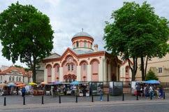 Église de St Paraskeva, Vilnius, Lithuanie images libres de droits