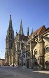 Église de St Peter - cathédrale de Ratisbonne à Ratisbonne bavaria l'allemagne photographie stock libre de droits