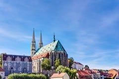 Église de St Peter et de Pauls dans la vieille ville de Gorlitz photos stock