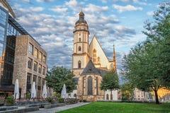 Église de St Thomas à Leipzig images libres de droits