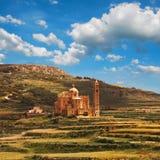 Église de Ta Pinu dans le village de Gharb, Gozo, Malte Image stock