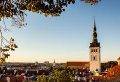 Église de Tallinn encadrée Photographie stock libre de droits