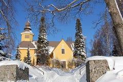 Église de Tarvasjoki en Finlande Photos libres de droits