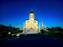 Église 2016 de Tbilisi d'été de la Géorgie Image libre de droits