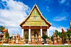 Église de temple thaï Images libres de droits