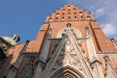 Église de trinité gothique à Cracovie Photo stock