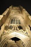 Église de trinité la nuit Images libres de droits