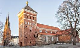 Église de trinité sainte d'Upsal Images libres de droits