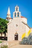 Église de trinité sainte dans Budva Image stock