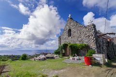 Église de Tukon dans Basco, Batanes Photo stock