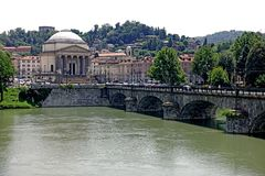 Église de Turin de la grande mère de Dieu images libres de droits