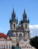 Église de Tyn à Prague Photo stock