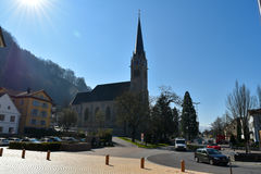 Église de Vaduz - la Liechtenstein Photos stock