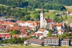 Église de Vierge Marie béni dans Marija Bistrica photographie stock libre de droits
