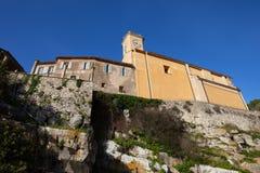 Église de village d'Eze dans les Frances Photos stock